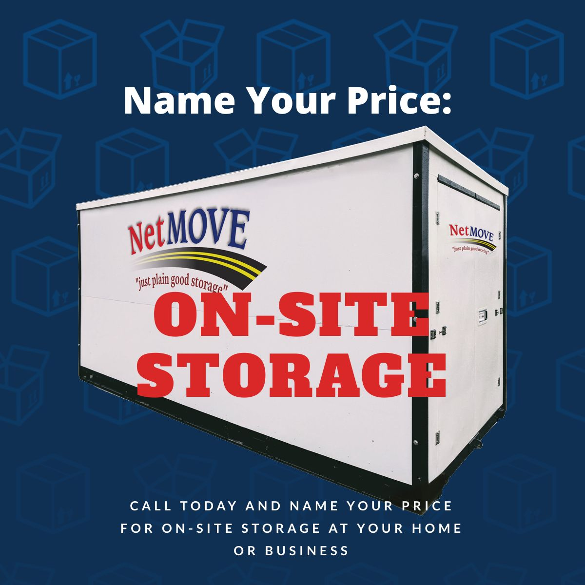 On-site Storage - name your price